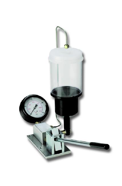 Equipo de taller para probar inyectores de combustible diesel y gasolina, de 0 a 600 bar.