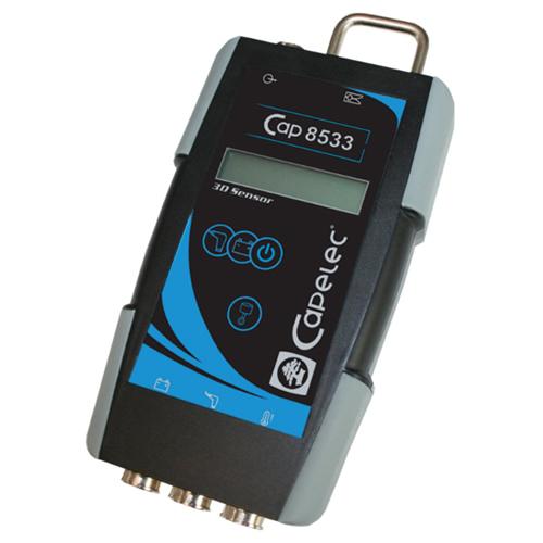 Medidor de rpm vibraciones y batería, por RS232