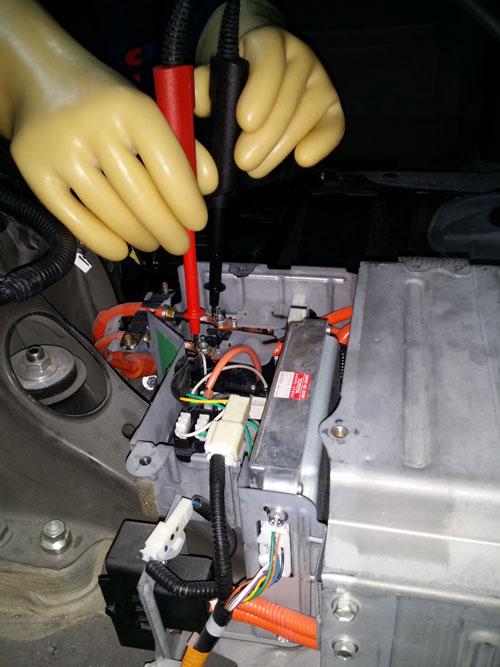 Foto de prueba de medición de voltaje